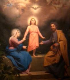 The Holy Family - Painting at Mission Santa Clara